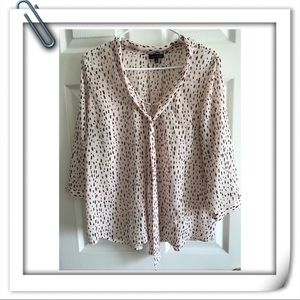 Light pink and black Limited blouse